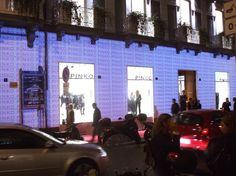 PINKO INTERACTIVE STORE_October, 2008 Interactive installations and video-mapping for Naples store