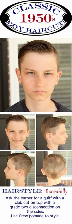 Modern Vintage 1950's Boy's Hairstyle and instructions on how to achieve it. Popular modern take on the 1950's quiff-{david beckham hair, zach efron style, adam levine haircut, world cup soccer hairstyle}