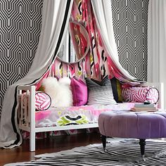 Wow. teens room, my room! #houseofdecor | West Elm Daybed Redone