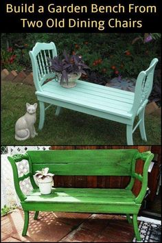 Inspired to make your own garden bench? - Inspired to make your own garden bench? - Tess Sy Inspired to make your own garden bench? Inspired to make your own garden bench? Furniture Projects, Furniture Makeover, Garden Furniture, Diy Furniture, Garden Bench Cushions, Diy Garden Benches, Outdoor Garden Bench, Outdoor Benches, Pallet Benches