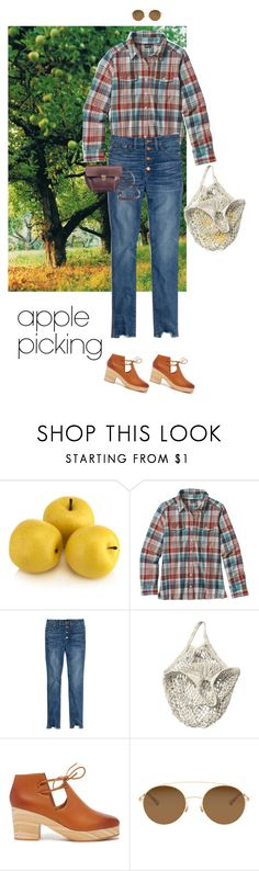"""Orchard Chic"" by rachael-aislynn ❤ liked on Polyvore featuring Patagonia, Madewell, Kelsi Dagger Brooklyn and Mykita"