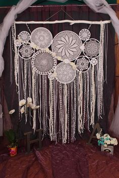 White dreamcatcher large dream catcher home decor dreamcatchers wall hanging dream catcher nursery boho dream catcher wall gift fot woman the composition consists of 8 rings - SOLD in the presence of . Dream Catcher Decor, Dream Catcher Nursery, Dream Catcher White, Large Dream Catcher, Dream Catcher Boho, Dream Catchers, Crochet Dreamcatcher, White Dreamcatcher, Dreamcatcher Feathers