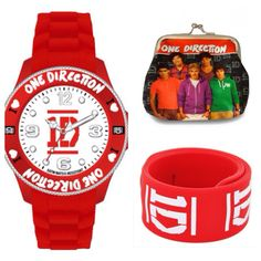 One direction watch, one direction purse and a one direction slap bracelet