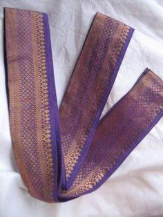 Headbands in Wide Indian Sari Fabric (Purple) Girl Skirt Mission - Milijana. $15.00
