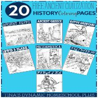 20 Free Ancient Civilization History Coloring Pages. Whether you want to add it to a homeschool lapbook, notebook page or journal, coloring pages are fun.
