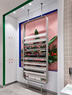 Nail salon in Sydney, Australia. Interiors by Jason Byrne Design, photography by Justin Alexander. Modern Nail Salon, Linear Line, Hospitality Design, Interior Design Studio, Design Projects, Salons, Inspiration, Sydney Australia, Alice