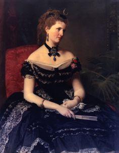 Don Federico de Madrazo y Kuntz (Spanish, 1815-1894) - Matilde de Aguilera y Gamboa, Lady of Fontagud, 1875, Museo Cerralbo, Madrid, Spain