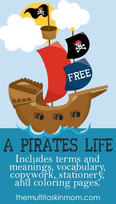 A Pirates Life Printable Pack fun for Talk Like A Pirate Day and all year round