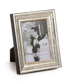 Gianni Antique Silver Wood Picture Frame