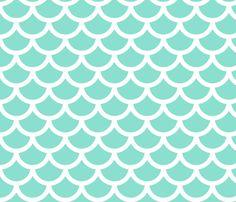 mermaid - mint fabric by gingerme on Spoonflower - custom fabric