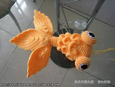 Amigurumi Fish Tutorial : Gold fish tutorial needs to be translated into english but