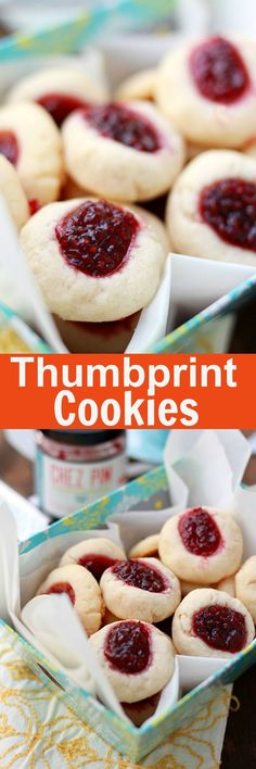Thumbprint Cookies - best, buttery and sweet cookies filled with raspberry jam. Easy recipe that anyone can make this holiday season | http://rasamalaysia.com