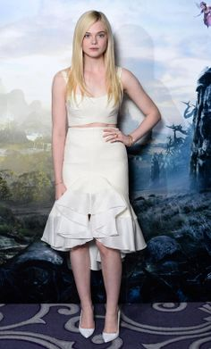 "Elle Fanning attends a photocall for ""Maleficent"" held at the Corinthia Hotel, London on May 9, 2014 in London, England."