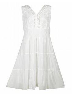 White Modern Maxi Dress