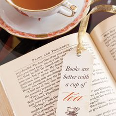 Wouldn't these make the perfect tea party favor?  Especially at a Book club tea!  :)