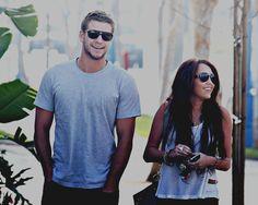 Future Mr. & Mrs. Hemsworth?! We'll see.