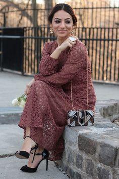 Boho Brown Lace Dress – bohemian style -MODE DELINA