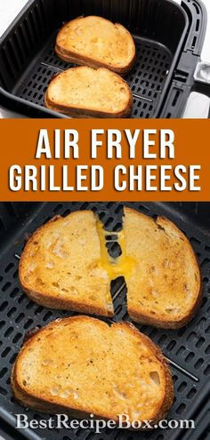 Air Fryer Grilled Cheese Sandwich- Best and Easy ! | Best Recipe Box