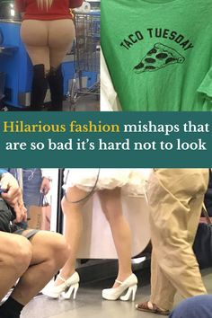 Now we've all had our bad fashion days, of course. You might look down at a picnic to find you've been flashing your undies to the entire park, or realise that there's been a stain on your pants that looks…