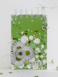 Aka using 3rd Eye flowery stamps and flair button! ♥ 3rdeyecraft.com/... #stamps #daisy #flair button #notebook Eye Products, Handmade Notebook, 3rd Eye, Notebooks, Journaling, Daisy, Stamps, Notes, Button
