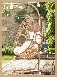 From Country Homes And Interiors · Outdoor Hanging ChairHanging ...