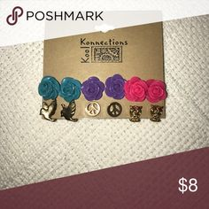 Earrings! Perfect little flowers, with birds, peace signs, and owls! Perfect for anyone! Jewelry Earrings