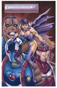 Youngblood 7 Variant Cover by on DeviantArt Comic Art, Comic Books, Rob Liefeld, Childhood Cancer, 1 Image, Image Comics, Dark Horse, Comic Covers, Art Museum