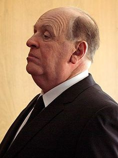 The first photo of Anthony Hopkins as Alfred Hitchcock.