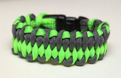 550 Paracord Bracelet Dragon's Tongue  Neon Lime by theangryrobot, $13.00