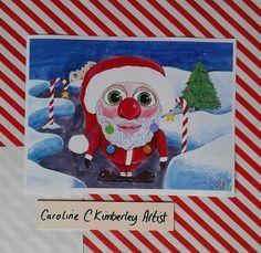 Santa Claus in a Winter Scene digital reproduction Print £4.00