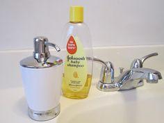 creative idea for baby shampoo  http://lovenloot.blogspot.com