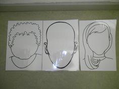Hoofden om gezichten op te boetseren met plasticine. *liestr*