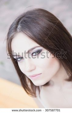 Fashion beauty portrait of young woman - stock photo  #fashion #fashionphoto #girls #women #streetfashion #people #brunette #posing #beauty #trend #look #designer #young #hair #makeup by Elizaveta Soldatenko