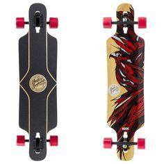 Awesome design on the Falcon II Kook lobgboard X Mindless Longboards Longboards, Mai, Snowboard, Skateboard, Cool Designs, Surfing, Animal, Awesome, Sports