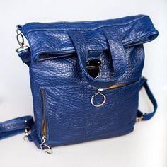 Leather Blue Backpack Women's Rucksack Backpack от MadamEliseeva