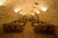 Tradiční kvelbený vinný sklep nabízí příjemné a stylové prostory s posezením až pro 75 osob. Sklep je vybaven rustikálním nábytkem s možností úpravy sedací kapacity dle požadavků zákazníka. Součástí sklepních prostor je též vinotéka Rotunda nabízející kvalitní jakostní i přívlastková vína renomovaných vinařů z kyjovské i širší oblasti.