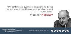 Vladimir Nabokov. Sobre un sentimental y sobre un sensible.