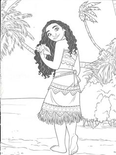 Moana Coloring Pages, Cool Coloring Pages, Christmas Coloring Pages, Coloring Sheets, Coloring Books, Disney Paintings, Disney Art, Moana Disney, Disney Christmas