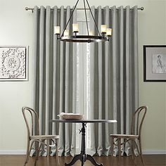 (One Pair) Classic Embossed Curve Embossed Energy Saving Curtain  – USD $ 59.99