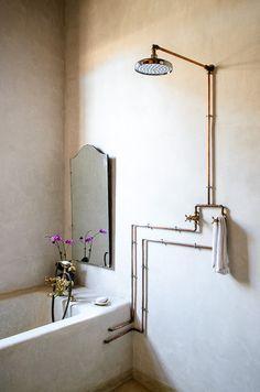pipes design bathroom - Szukaj w Google