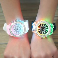 [free ship] School Boy Girl Watches Electronic Colorful Light Source Sister Brother Birthday Kids Gift Clock Fashion Children s Wrist Watch ~ buy watch Army Watches, Seiko Watches, Sport Watches, Analog Watches, Best Kids Watches, Cool Watches, Watches For Men, Wrist Watches, Unusual Watches