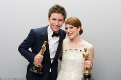 Talented twosome: Eddie and Julianne were the winners of the most prestigious of all the prizes at the star-studded Hollywood ceremony