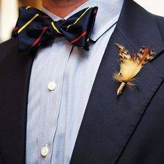 Life of a Vintage Lover: To Remember: Fly-tying Boutonnieres