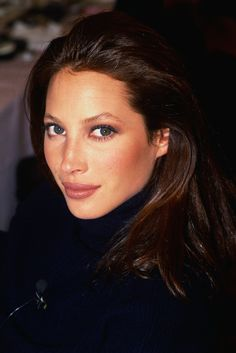 Christy Turlington. This doesn't seem like a picture from a shoot but with minimal make up she's at her prettiest like this