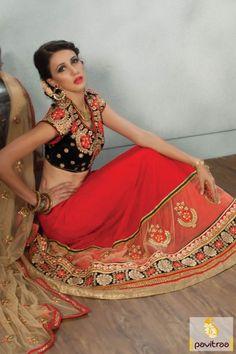 #Black #Red #Net #lehengha choli, #latestlehengha, #weddinglehengacholi, #lehengadesignsforwedding, #ghagracholionline, #bridallehenga, #designerchaniyacholi, #indianbridallehengacholi, #designerwearlehengacholi, #heavylehengha. More Info.: More Info.:  http://www.pavitraa.in/store/designer-collection/    Any Query:  Call / WhatsApp : +91-76982-34040