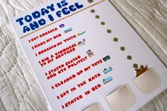 Kids' Daily Responsibility Chart. Good idea and a necessity in my home.