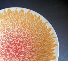 Dahlia 10 inch bowl In Stock by yogagoat on Etsy