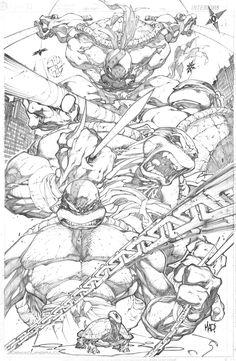 Teenage Mutant Ninja Turtles (Pencil)//Joe Madureira/M/ Comic Art Community GALLERY OF COMIC ART