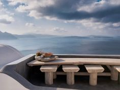 somewhere in Santorini . santorini greece seaside greekislands photography photographer travel dining alfresco aegean cyclades kellybehunstudio via Santorini Greece, Mykonos, Cheap Home Decor, Interior And Exterior, The Good Place, Beautiful Places, Amazing Places, Outdoor Living, Places To Go