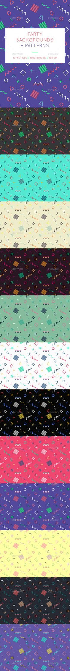 Party Geometric Backgrounds